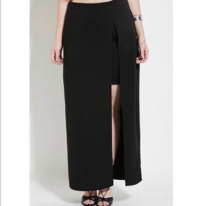 NWT Plus Size Forever 21 Slit Skirt